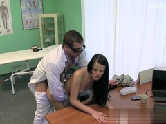 Doctor tries to heal his young patient with sensual fucking and voluptuous orgasms
