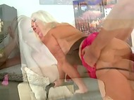 This adorable sexy blonde likes to suck and ride a strong cock every day
