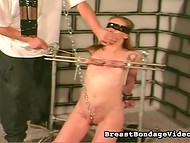 Young chick liked to get bound and tortured in the basement of the skilled pervert