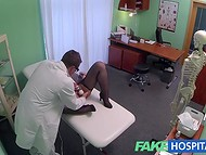 Strange doctor prescribes her to take treatments using his dick and vibrator